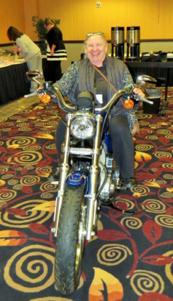 Of course, our conference wouldn't be fun without a fantastic silent auction. Included this year was a raffle for a motor cycle!